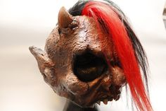 As seen on www.raezorfxdesigns.com  the Deadneks FANGFACE 3/4 mask with punched synthetic hair. © 2011