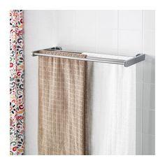 KALKGRUND Seinähylly + pyyheteline IKEA Piilokiinnitys; ei näkyviin jääviä…