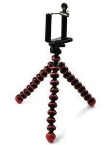 Dealzip Inc Red  Black Octopus Style Portable and adjustable Tripod Stand with Holder for iPhone4S5Scellphonecamera >>> Be sure to check out this awesome product. Note: It's an affiliate link to Amazon.