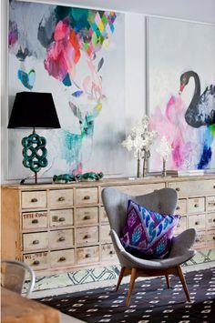 lovely art in a lovely room