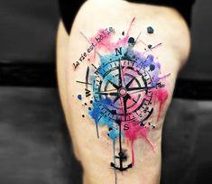 Compass tattoo by Kenlar Tattoo