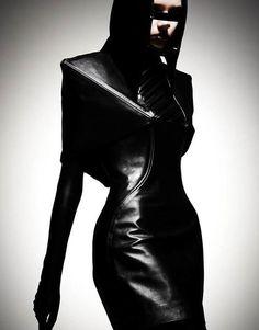 futuristic, cyberpunk, Dark Fashion by Leonardo Wong Pvc Fashion, Dark Fashion, Gothic Fashion, Leather Fashion, Fashion Art, Editorial Fashion, High Fashion, Fashion Beauty, Fashion Design