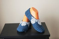 Navy Blue with lace Healthy Booties Home slippers Dance #woman #gifts #present #sale  #etsy #gifts #ocean #accessory #handmade #UniqueHandmade  #womenfashion #giftforwomen #promomyshop #scarf #Homeslippers #baby #babyshowergift #babydecor #weddingshopping #weddinggift