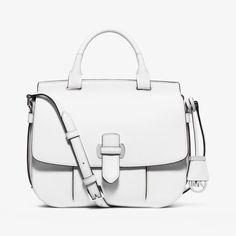 MICHAEL Michael Kors Romy Large Leather Crossbody Bag White