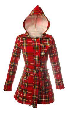 Jess Hooded Coat, Stewart Royal