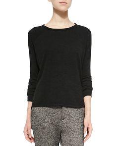 Camden Long-Sleeve Knit Top, Size: X-SMALL, Black - rag & bone/JEAN