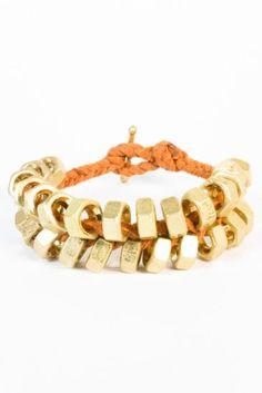 Dawson Gold Bolt Bracelet.