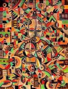 Cameroon Artist Angu Walters |Contemporary African Paintings