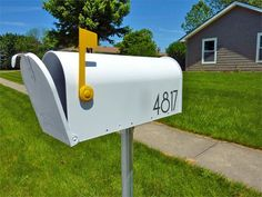 Jazz up your mailbox with spray paint and new decals.