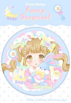 ■BABY♡Blue缶バッチ - PHOOEY SHOP