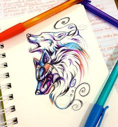 watercolor wolf tattoo - Buscar con Google