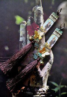 Longues boucles d'oreilles ethniques d'inspiration Japonaise vintage - Butterfly : Boucles d'oreille par fujigirls