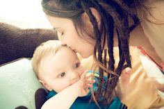 Dreadlock Mama and baby- this inspires me.
