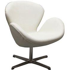 Wing Leather Lounge Chair Wing Leather Lounge Chair in White