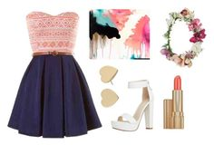 """""""Pink and blue are the perfect two"""" by angvax05 on Polyvore"""