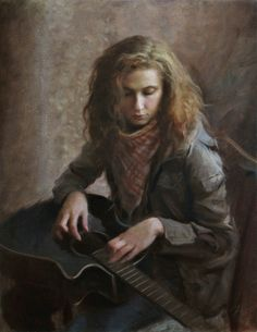 """The Art of Nick Alm, """"A Different Approach"""", oil 2010 Figure Painting, Figure Drawing, Art Pictures, Art Images, Portrait Art, Portrait Paintings, Contemporary Paintings, Art Music, Figurative Art"""