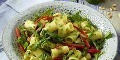 Rigatoni with Rocket Pesto Pasta Rigatoni, Pesto Pasta, Pasta Recipes, Autumn, Vegetables, Fall, Veggie Food, Vegetable Recipes, Veggies