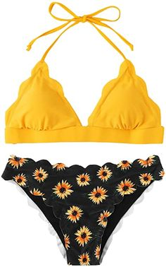 ✦Nylon/Spandex ✦Features: Halter neck strap, backless, scalloped trim, letter print, triangle bikini top with padding bra. ✦Before Order: Please select your size based on the measurements as below. ✦Material: Smooth fabric bikini swimsuit sets are very stretchy,comfortable and durable. ✦Package Including: 1×Bikini set(top & bottom). ✦Occasion: Beachwear, swimming pool, hot spring, photographs and other water activities. Halter Bikini, Bikini Set, Bikini Tops, Bikini Swimsuit, Halter Neck, Girls Bathing Suits, Bathing Suit Top, Two Piece Swimsuits, Women Swimsuits