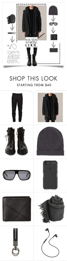 """""""men"""" by changethisonce ❤ liked on Polyvore featuring Maison Margiela, AllSaints, Rick Owens, Barneys New York, Cazal, Under Armour, Burberry, Tod's, B&O Play and men's fashion"""