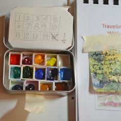 Altoid tin travel watercolor palette