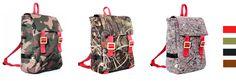 skomponuj swój plecak_wybierz jeden z 3 materiałów + jeden z 4 kolorów pasków