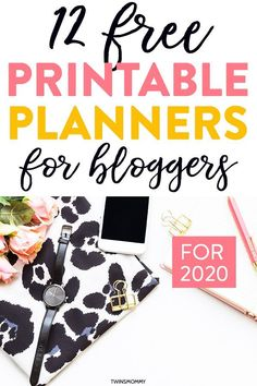 Free planners to help you grow your blog as a new blogger. Get 12 free printable planner pages for your blog when you work from home. Boost your productivity and time management with this blog planner. #planner #printable #blogplanner Printable Planner Pages, Free Planner, Blog Planner, Free Printables, Wordpress For Beginners, Blogging For Beginners, Online Entrepreneur, Entrepreneur Ideas, Free Blog
