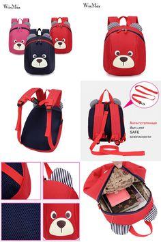 [Visit to Buy] Age 1-3 Toddler backpack Anti-lost kids baby bag cute animal dog children backpack kindergarten bear school bag mochila escolar  #Advertisement