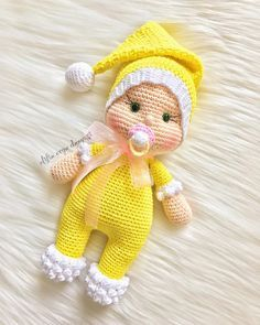 plus - Amigurumi Baby Crochet Crochetmsaplus Doll Free Pacifier Pattern Crochet Motifs, Crochet Doll Pattern, Crochet Toys Patterns, Amigurumi Patterns, Stuffed Toys Patterns, Doll Patterns, Amigurumi Tutorial, Crochet Doll Clothes, Knitted Dolls