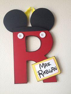 Super-Duper Embellished Letters: cute & custom made for weddings teachers holidays birthdays DISNEY gifts. $25.00, via Etsy.