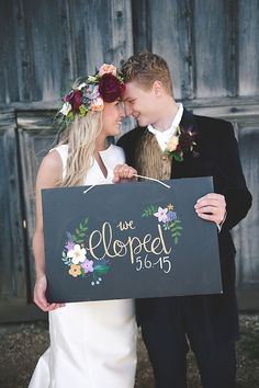 Elopement announcement | Bit of Ivory Photography | see more on: http://burnettsboards.com/2015/10/midsummer-nights-elopement-inspiration/