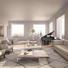 Gerade auf der Suche nach einer Alternative zu der Maisonette-Wohnung am Stadtrand? Vielleicht hätte ich da etwas für Euch, wie wär's mit dieser 95 Millionen US-Dollar Crib in einer der exquisitesten Wohngegenden in Manhattan, nämlich der Park Avenue?! Designed wurde dieses Apartment hier vom Architekten Rafael Vinoly, bei dem Gebäude handelt es sich um das höchste Wohngebäude in der westlichen... Weiterlesen