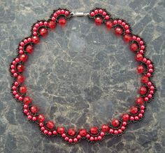Free pattern for necklace Rosana | Beads Magic