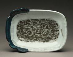 Laced Bowl with Scalloped Edge by AshleyKimClayworks on Etsy, $55.00