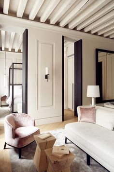 Palazzo Cristo – Suite – Living-room and Bedroom - Decoration 3 Living Rooms, House Rooms, Home And Living, Living Room Designs, Living Room Decor, Bedroom Decor, Modern Living, Small Living, Master Bedroom