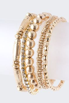 Gold bangles mixed with swarovski crystals, Want Now! Deal of the Day at kris today! https://www.krisandkate.com/dealoftheday.html  $26