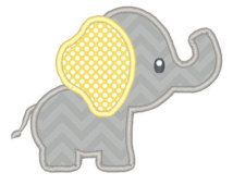 Image result for elephant baby applique