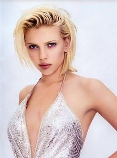 Scarlett Johannson in her early years- yipes, I wouldn't want to be the one she is angry at here!