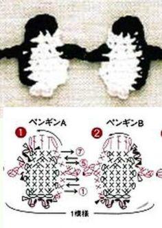 penguin http://issuu.com/eowynn/docs/ao---crochet-edging---braid-2
