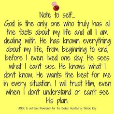 Note to self…Aug. – Note To Self – Daily Reminders For The BrokenHearted Prayer Quotes, Bible Verses Quotes, Spiritual Quotes, Faith Quotes, Scriptures, Prayer Verses, Faith Sayings, Wisdom Bible, Faith Prayer