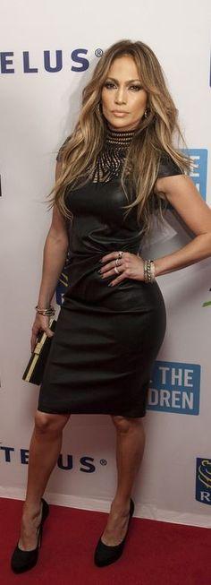 Jennifer Lopez: Dress – JITROIS  Shoes – Jimmy Choo  Ring – Atelier Swarovski