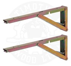 Table Worktop Folding Shelf Support Brackets Wall Mounted Hinged Spring Pair (380mm x 30mm x 120mm)