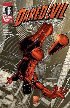 Daredevil Marvel Knights cover by Joe Quesada MT Marvel Comics, Bd Comics, Marvel Comic Books, Comic Book Characters, Comic Book Heroes, Marvel Characters, Comic Books Art, Book Art, Comic Character