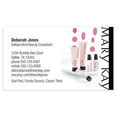 Mary kay business cards template free business card chickens mary kay business cards make up wajeb Gallery