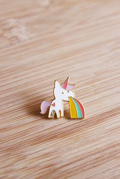 ANIMAL | Cute Unicorn Enamel Lapel Pin by HelloMissMay on Etsy