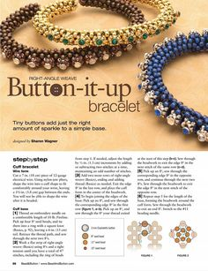 Best 12 Beaded beads tutorials and patterns, beaded jewelry patterns, wzory bizuterii ko… – SkillOfKing. Seed Bead Tutorials, Beading Tutorials, Beading Patterns, Beaded Jewelry Designs, Seed Bead Jewelry, Handmade Jewelry, Beaded Jewellery, Seed Beads, Beaded Braclets