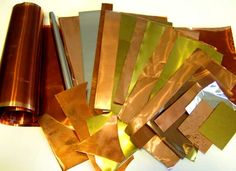 RECLAIMED - RECYCLED CRAFT METAL Sheet & wire: Copper, Brass, Aluminum & FAST SHIPPING