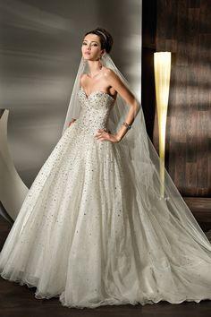 Demetrios Sparkle Beaded Princess-Style Wedding Dress 2012