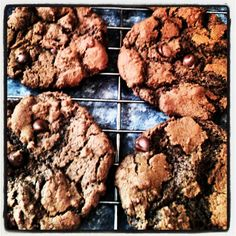 Chocolate cinnamon cookie. 1 stick of melted butter, 1c sugar. Combine. Add 1 egg 2tsp vanilla, stir. Add 2c flour 1/4c cocoa pinch of salt 1tsp cinnamon 1.5tsp baking soda. Stir and then add chocolate chips. Bake 375 for 9 to 12 mins