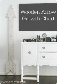 DIY oversized wooden arrow growth chart - easy to make and looks great in any room in your house