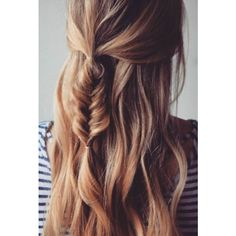 8 Romantic French Braided Hairstyles for Long Hair, You Cannot Miss ❤ liked on Polyvore featuring beauty products, haircare, hair styling tools y hair